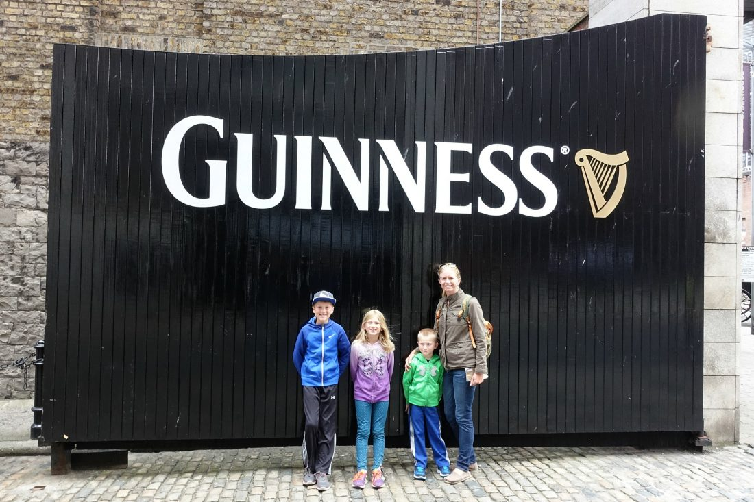 In front of the Guinness Storehouse. Dublin, Ireland