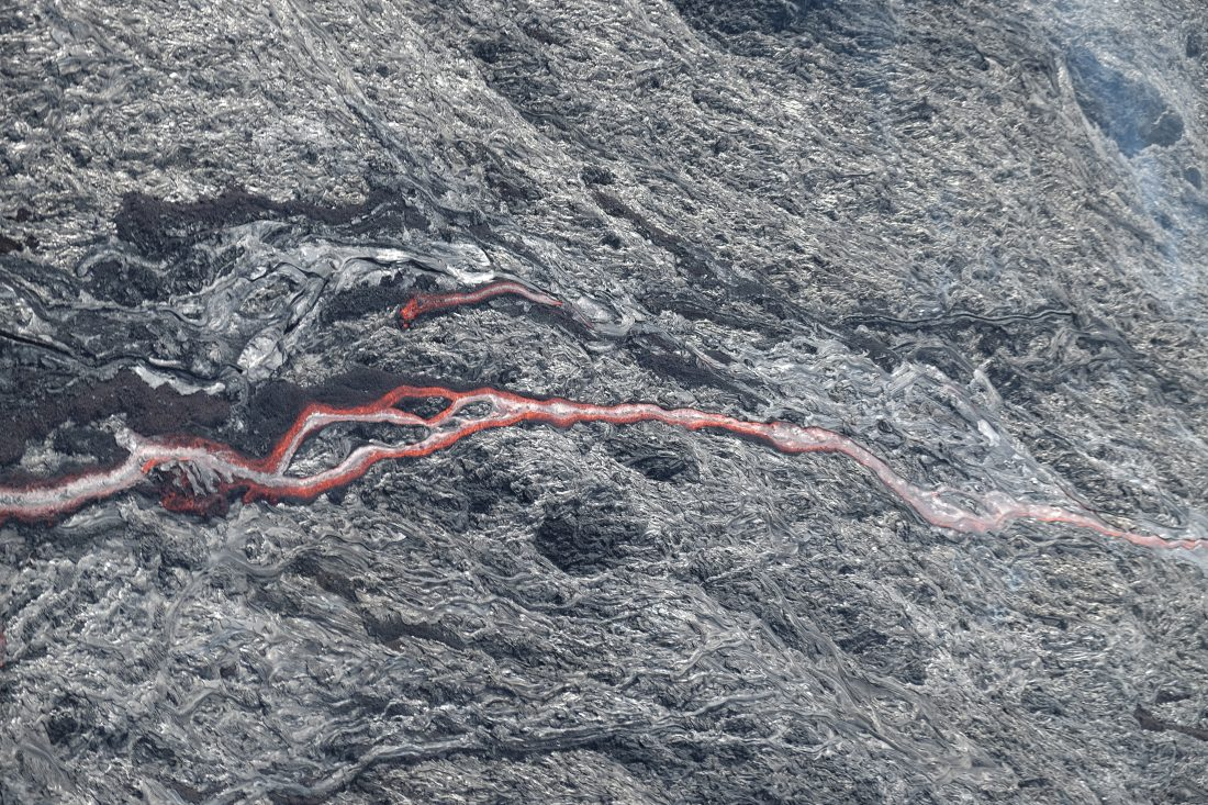 Kilauea lava flow from 500 feet above