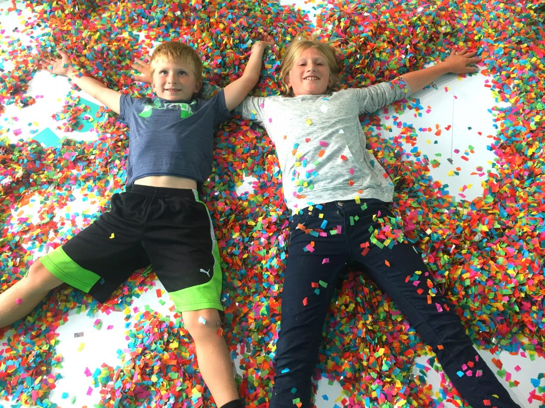 Making confetti angels