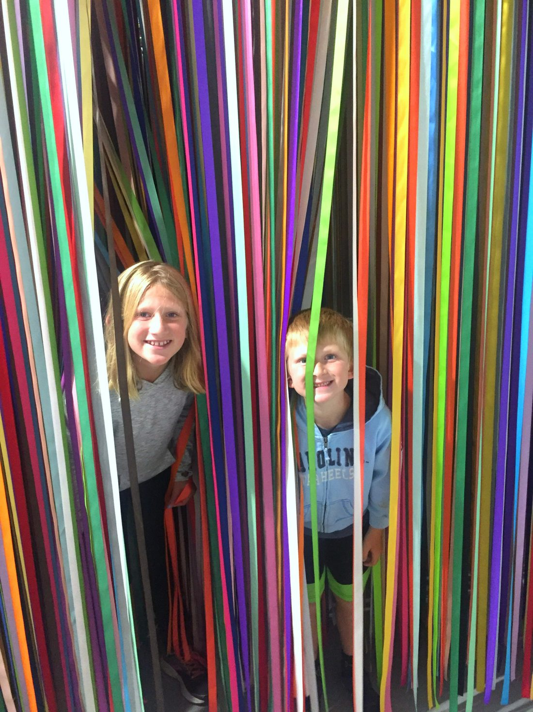 The ribbon room was perfect for hide & seek