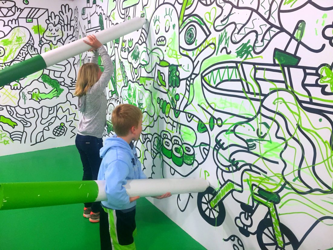 Coloring on the walls