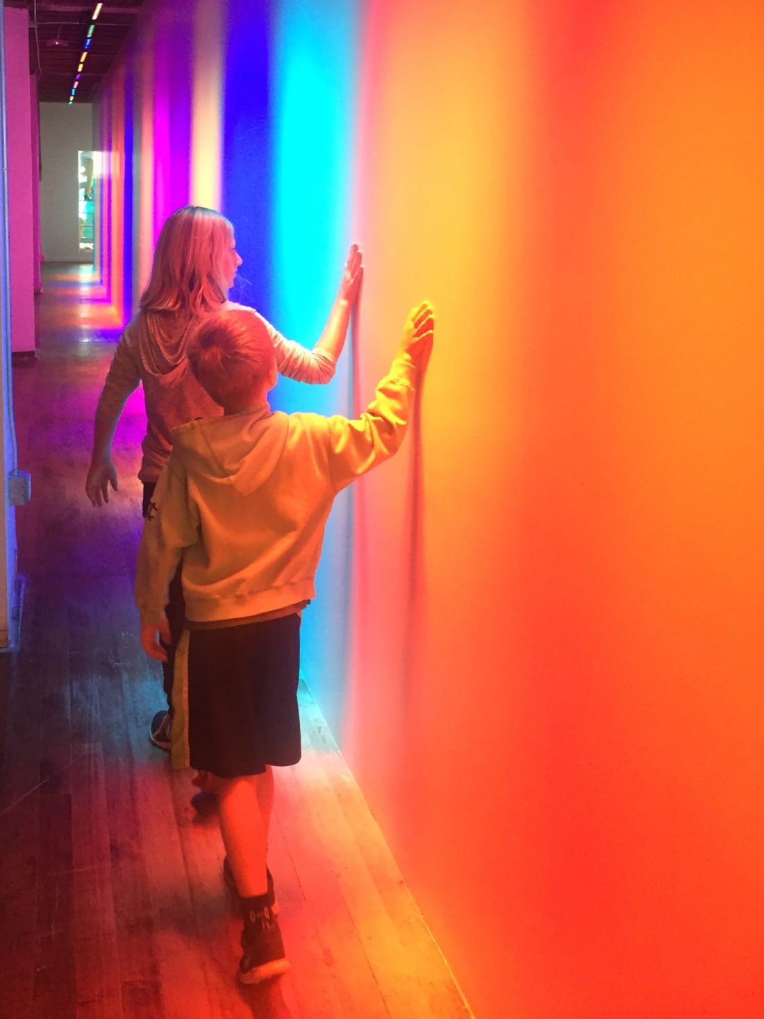 Even walking down a hallway was fun at the Color Factory
