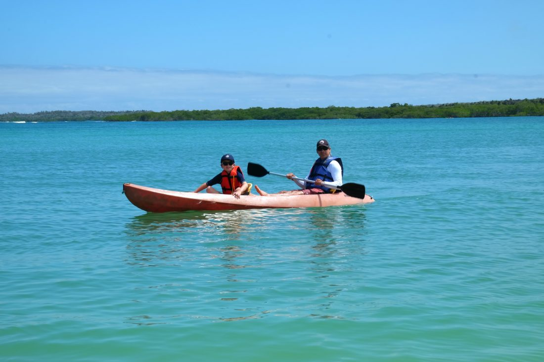 The calm waters of Tortuga Bay were perfect for kayaking