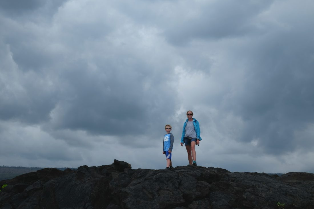 Admiring the Pacific Ocean from the end of Chain of Craters Road