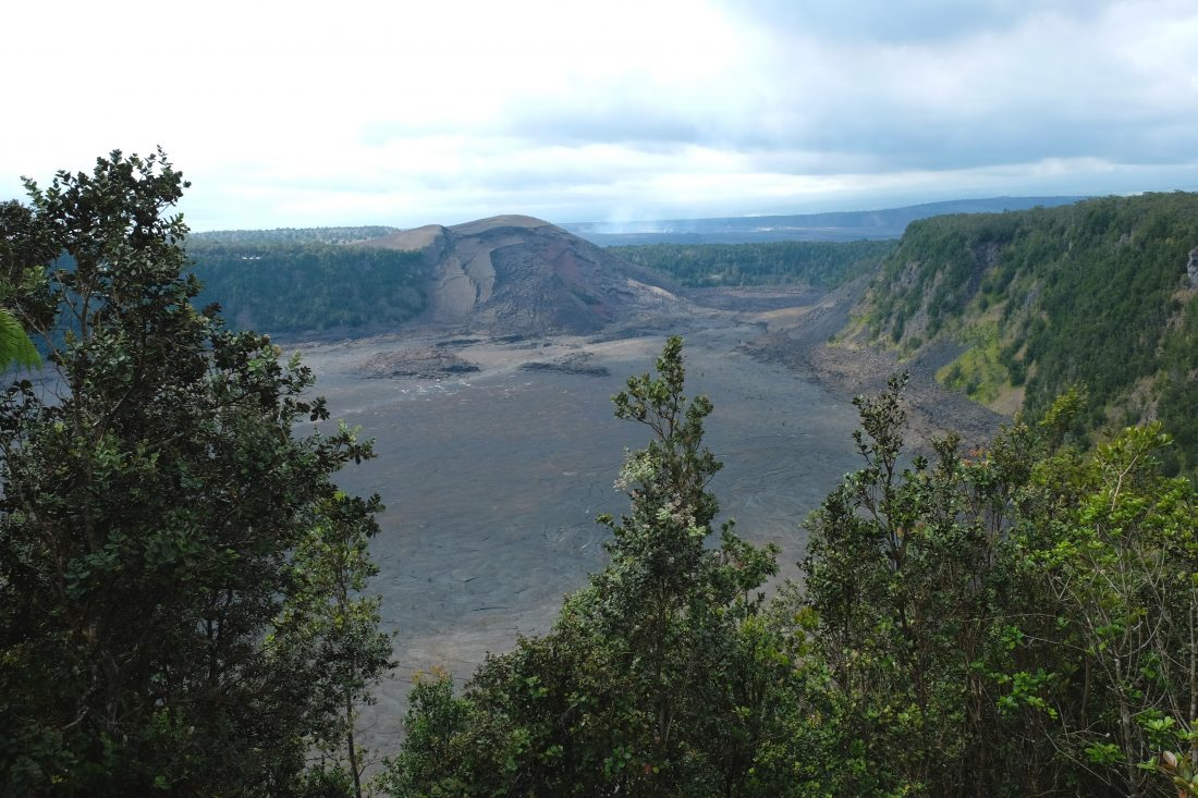 Kilauea Iki pit crater in Volanoes National Park