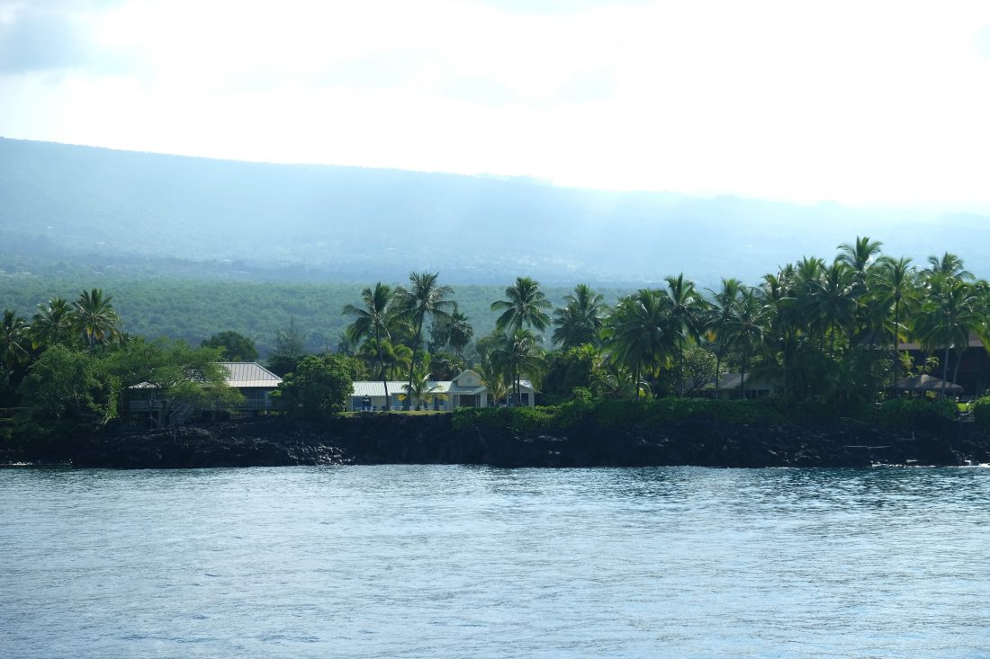 Our first snorkel stop on the Hula Kai
