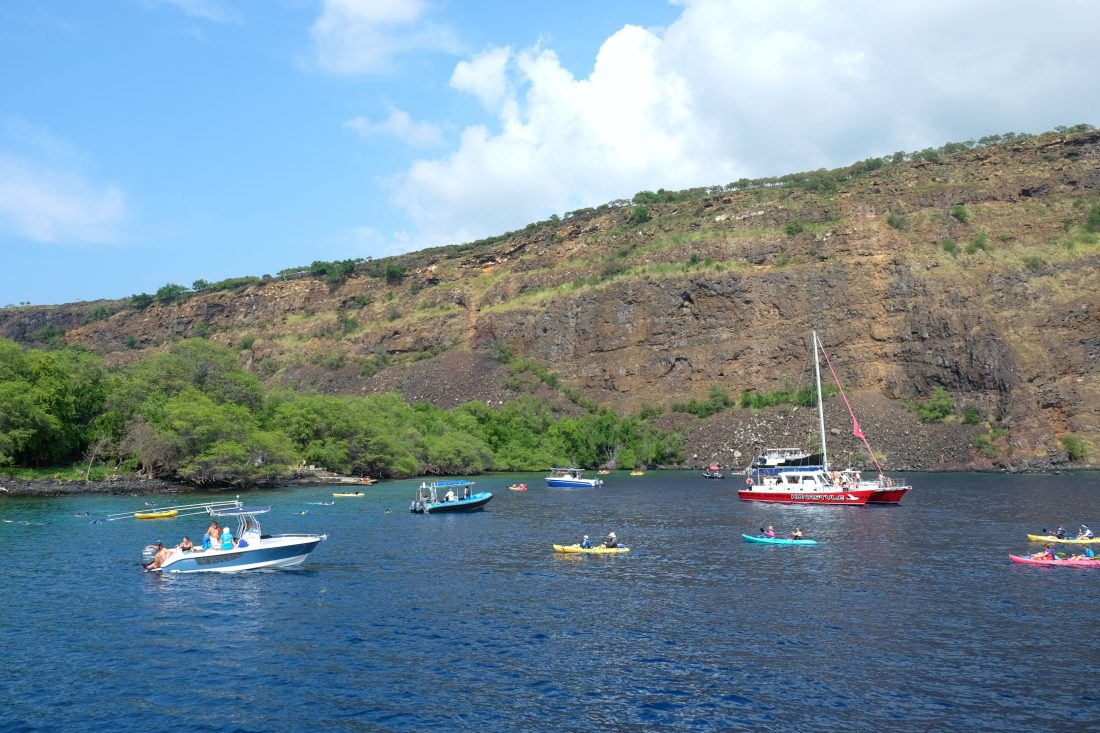 Kealakekua Bay is a popular place to snorkel