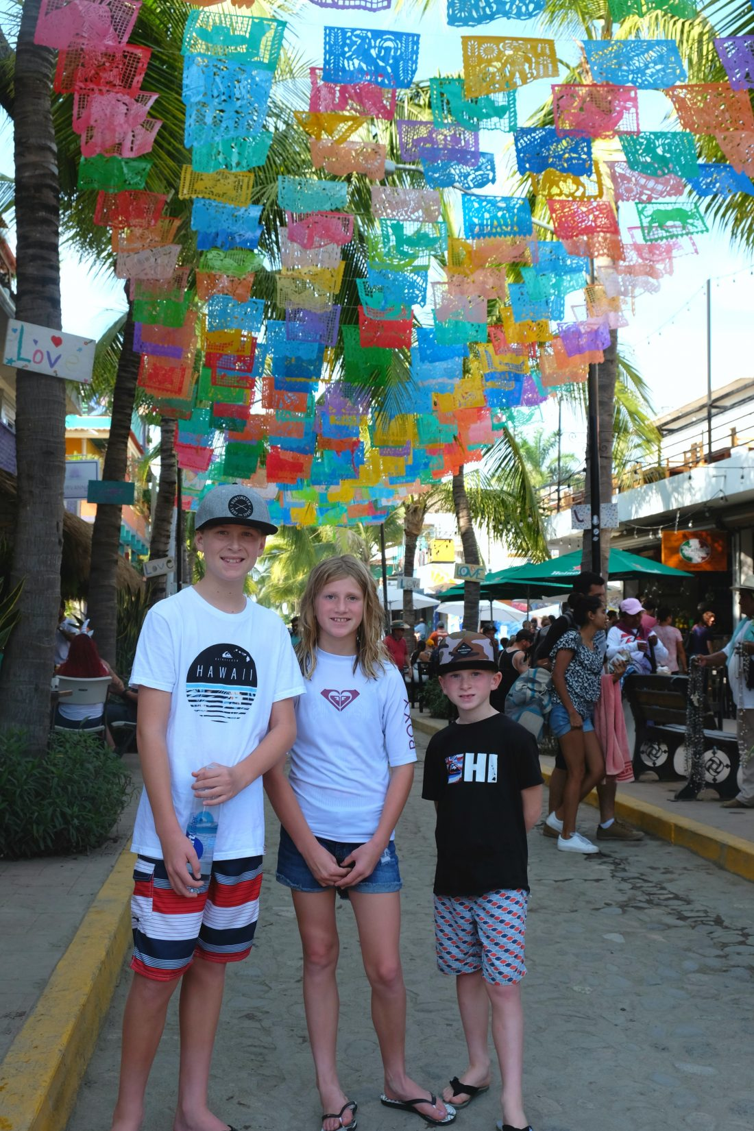 The bustling streets of Sayulita