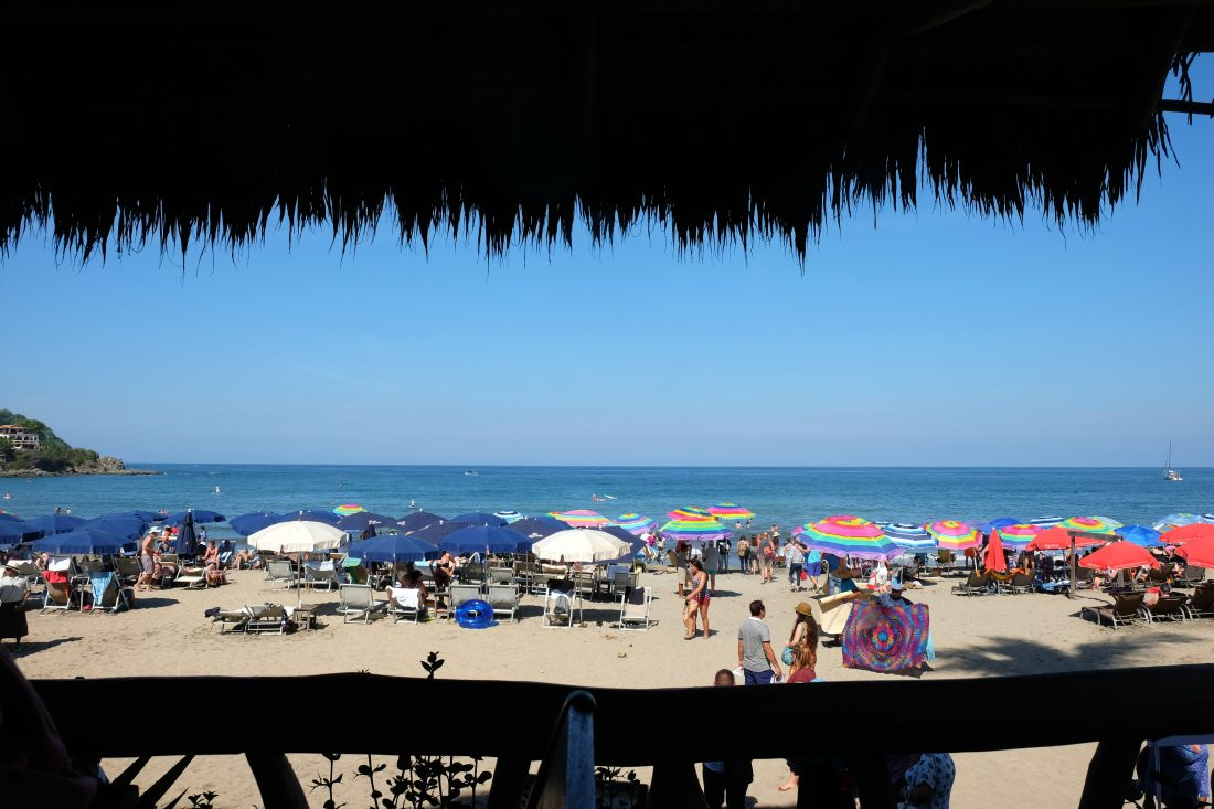 The view of Sayulita Beach from our table at Don Pedro's Restaurant & Bar