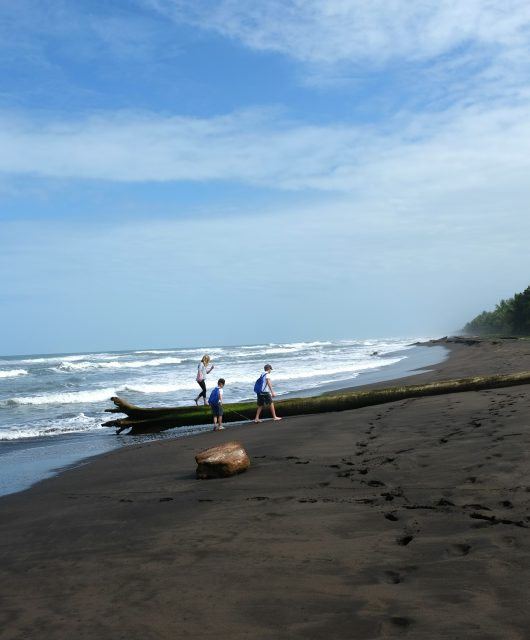 Exploring the beaches in Tortuguero. Costa Rica