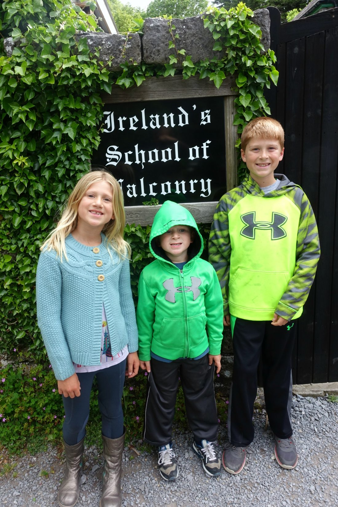 Entering Ireland's School of Falconry at Ashford Castle. County Mayo, Ireland