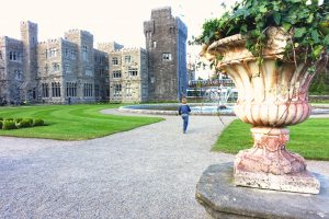 Running through the grounds at Ashford Castle. County Mayo, Ireland. Cong