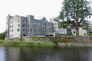 Ashford Castle from Lake Corrib. County Mayo, Cong, Ireland