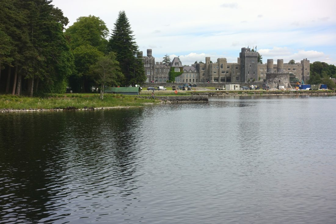 The back of Ashford Castle. They were building an indoor relaxation pool while we were there.County Mayo, Cong, Ireland