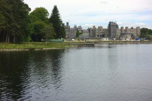 The back of Ashford Castle. They were building an indoor pool while we were there.County Mayo, Cong, Ireland