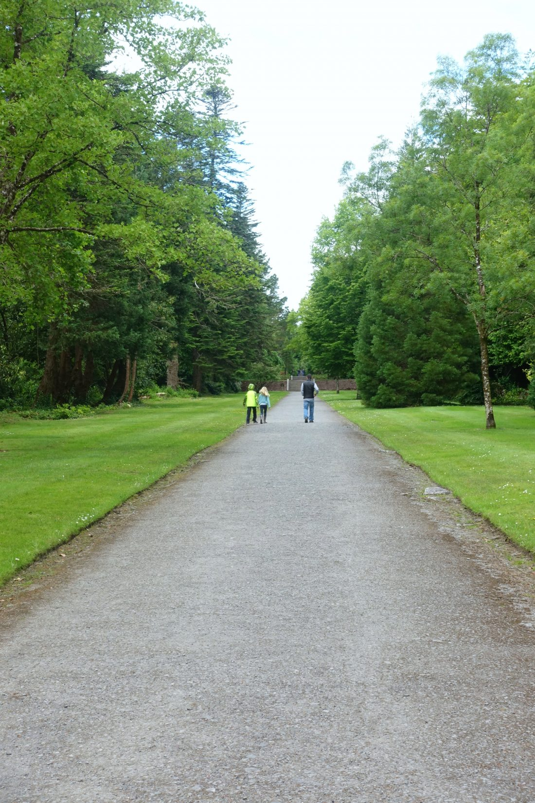Walking through the grounds of Ashford Castle. County Mayo, Ireland