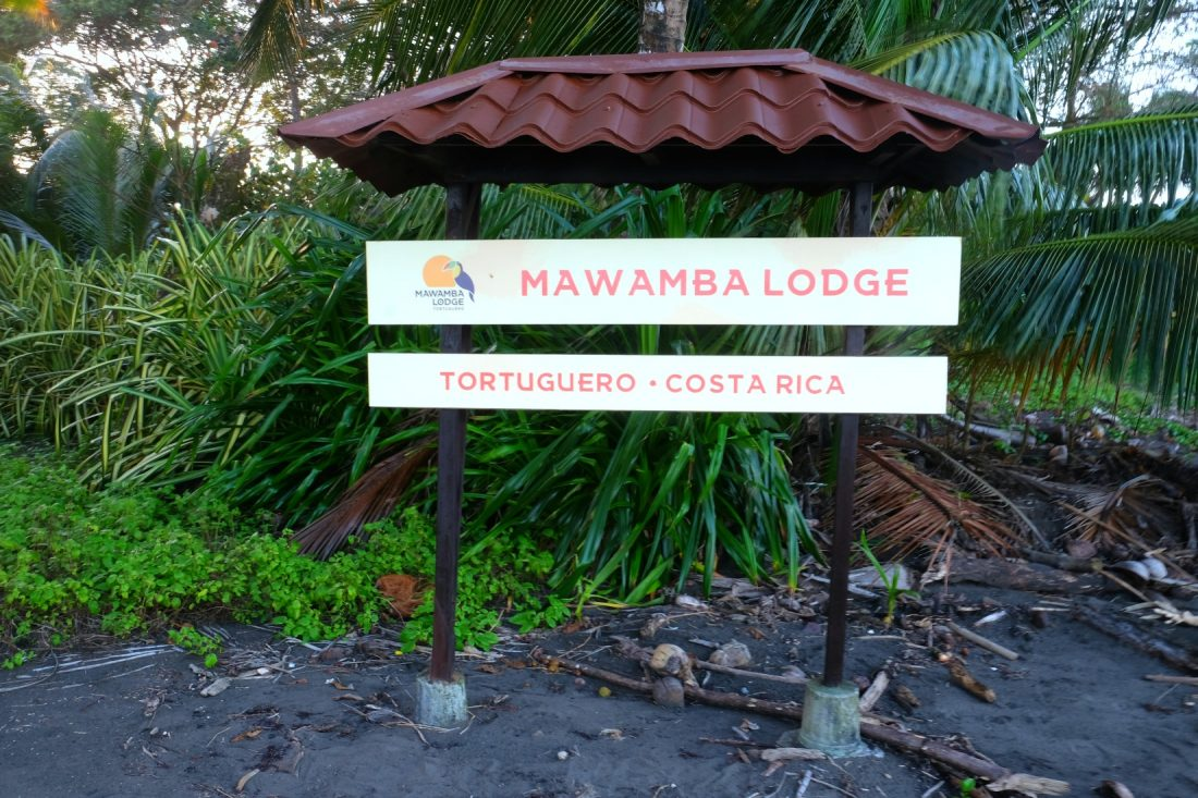 Conveniently placed along the beach so we knew where to head in. Mawamba Lodge, Tortuguero, Costa Rica