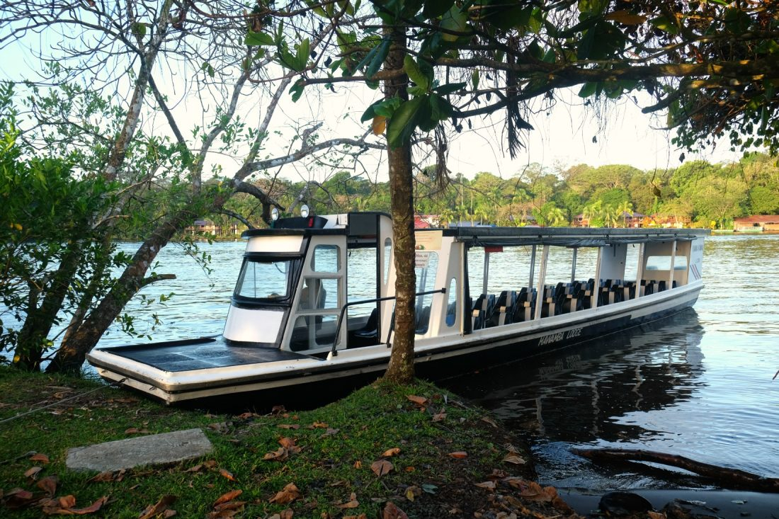 River boat at Mawamba Lodge. Tortuguero Costa Rica