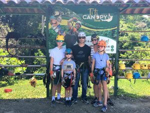 Getting ready to zipline through the Costa Rica jungle! Manuel Antonio Park