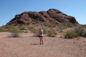 Admiring the red rocks in Scottsdale, Arizona
