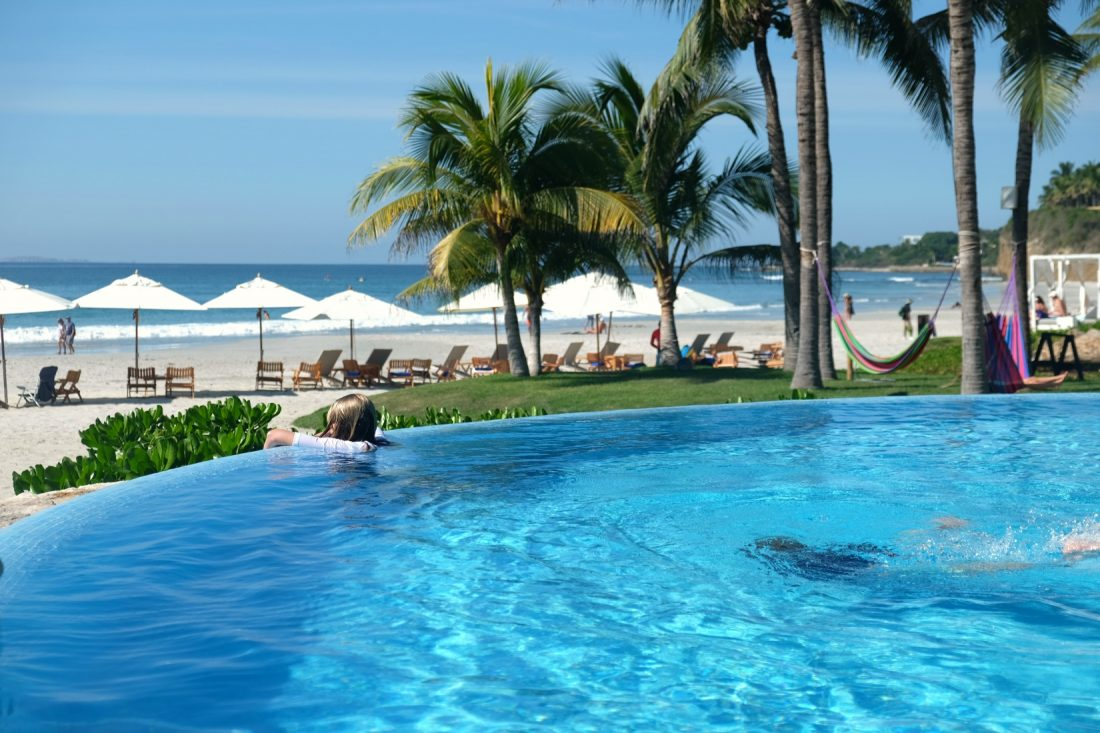 Beachfront pool at Los Veneros. Punta Mita, Mexico