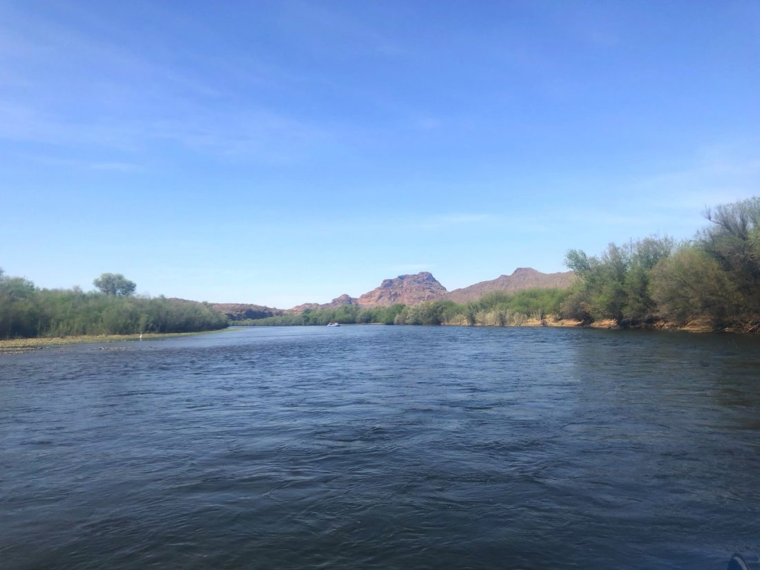 Floating down the Salt River. Scottsdale, Arizona