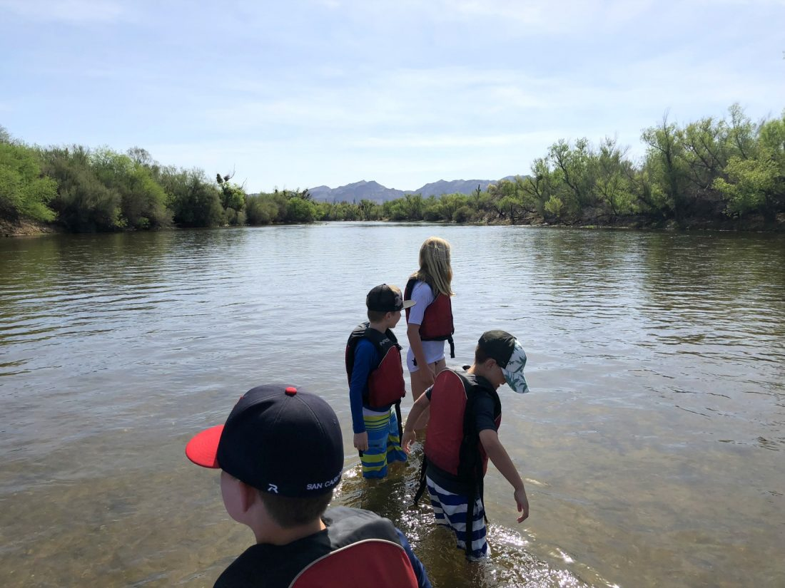 Cooling off in the Salt River. Scottsdale, Arizona