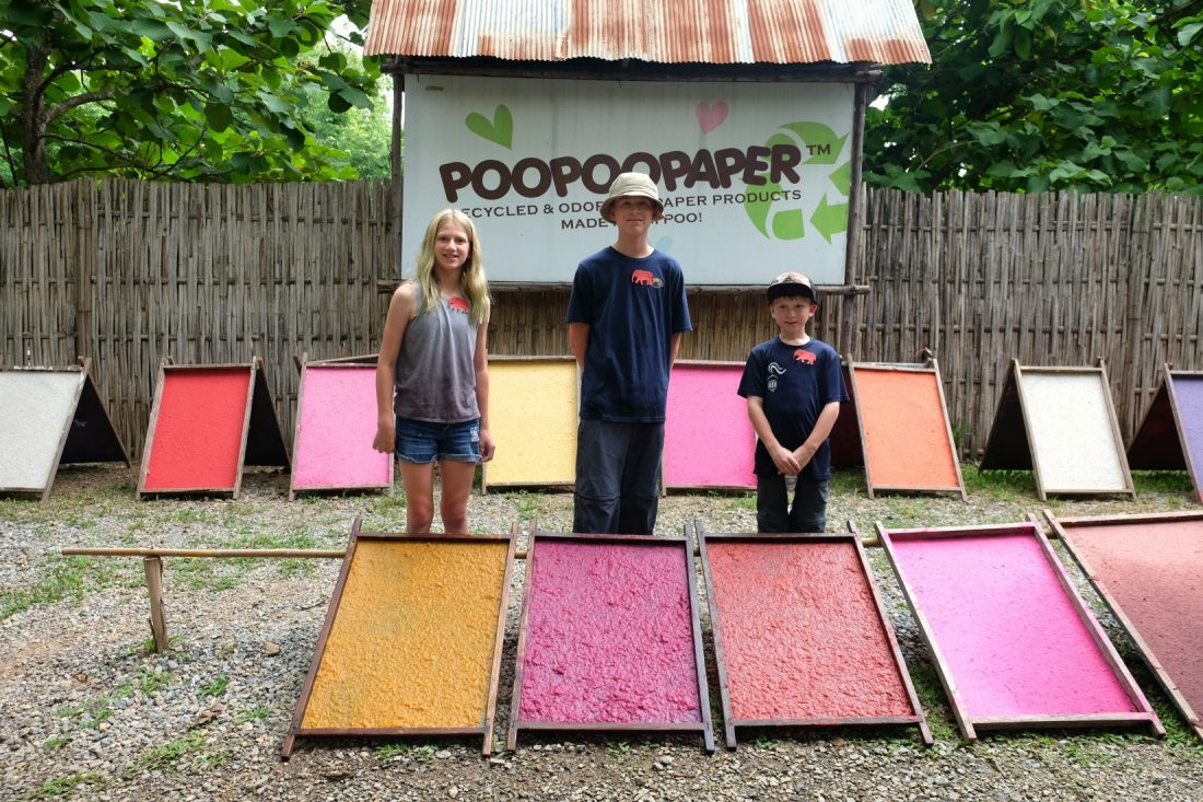 Leaving the paper out to dry. Poo Poo Paper Park. Chiang Mai, Thailand