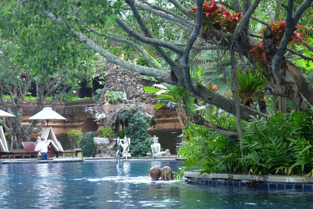 The pool at the Dhara Dhevi. Chiang Mai, Thailand