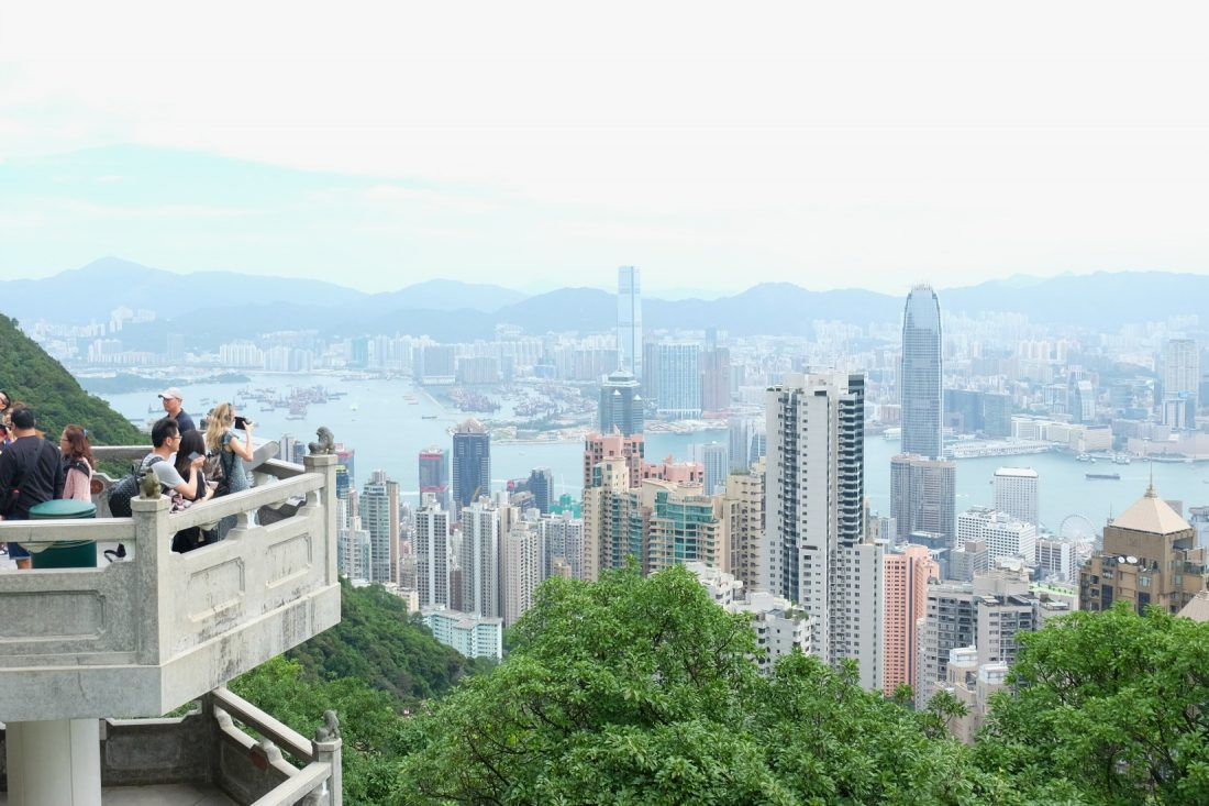 The view from Victoria Peak. Hong Kong