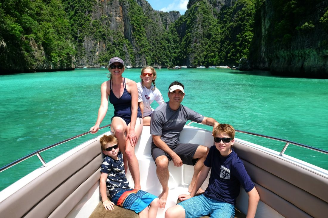 Boat ride around the Phi Phi Islands. Thailand