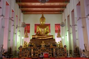 Inside the temple at Wat Mahathat