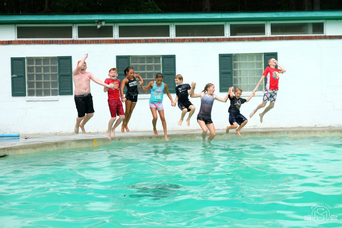 Favorite moment: jumping into the pool fully clothed after the mile race