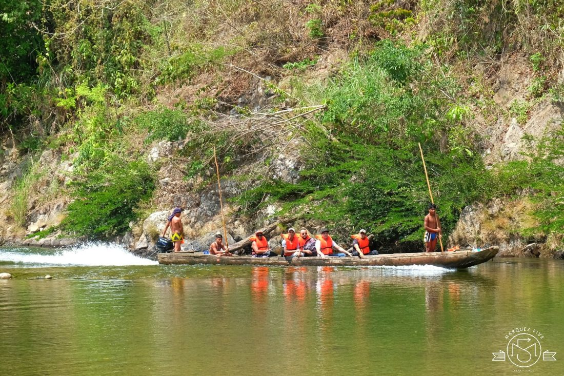 Traveling by piragua on the Chagres River