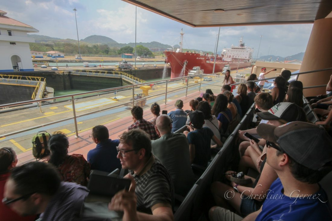 Viewing area at the Miraflores lock