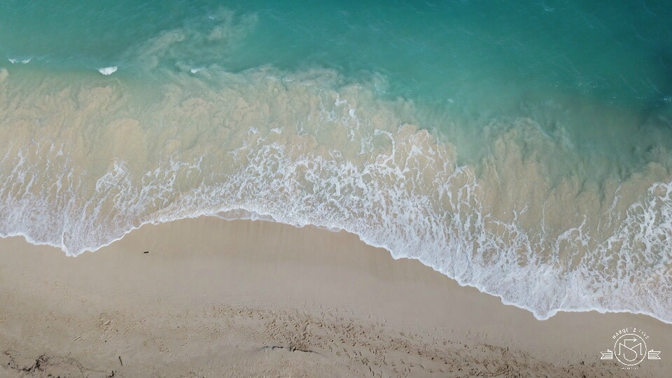 View of Waimanalo Beach from above