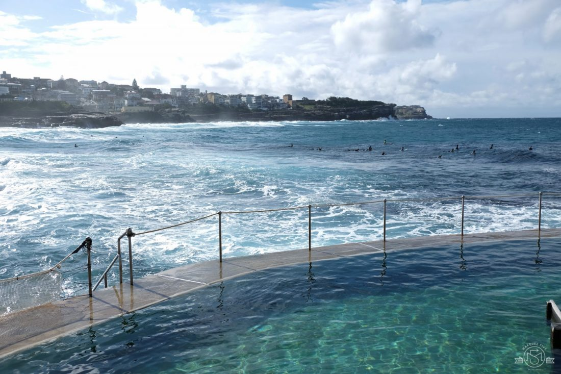 Bronte Pool along the Bondi to Coogee coastal walk. Sydney, Australia
