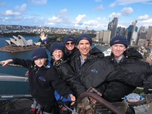 Climbing up the Sydney Harbour Bridge. Australia