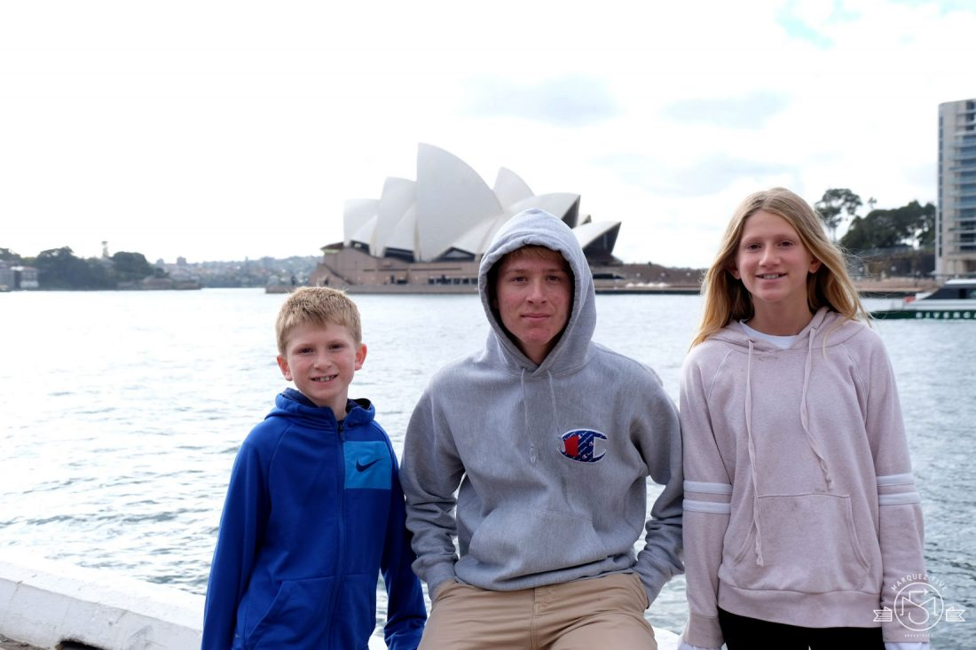 In front of the iconic Opera House. Sydney, Australia