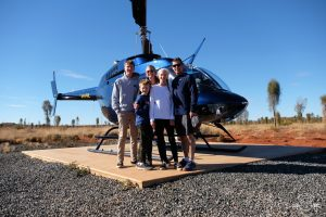 Helicopter ride over Uluru. Australia Outback. Ayers Rock