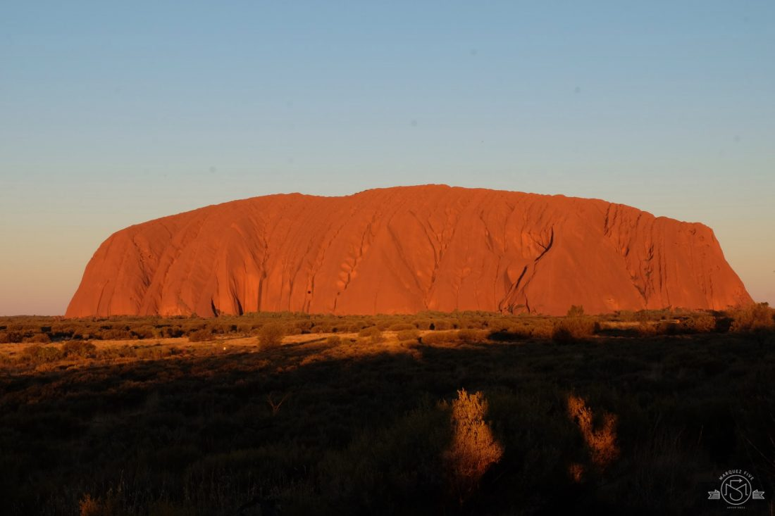 Uluru at sunset. Australia. Ayers Rock