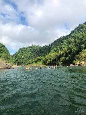 Floating down the Navua River at the end of the day