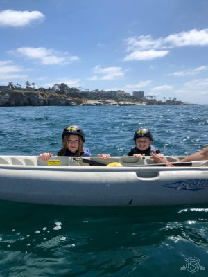 They never pass up an opportunity to jump all in! La Jolla Sea Kayak; California. Everyday Adventures