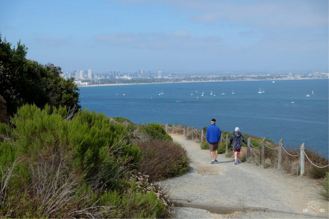 Hiking the Bayside Trail at Point Loma. San Diego California