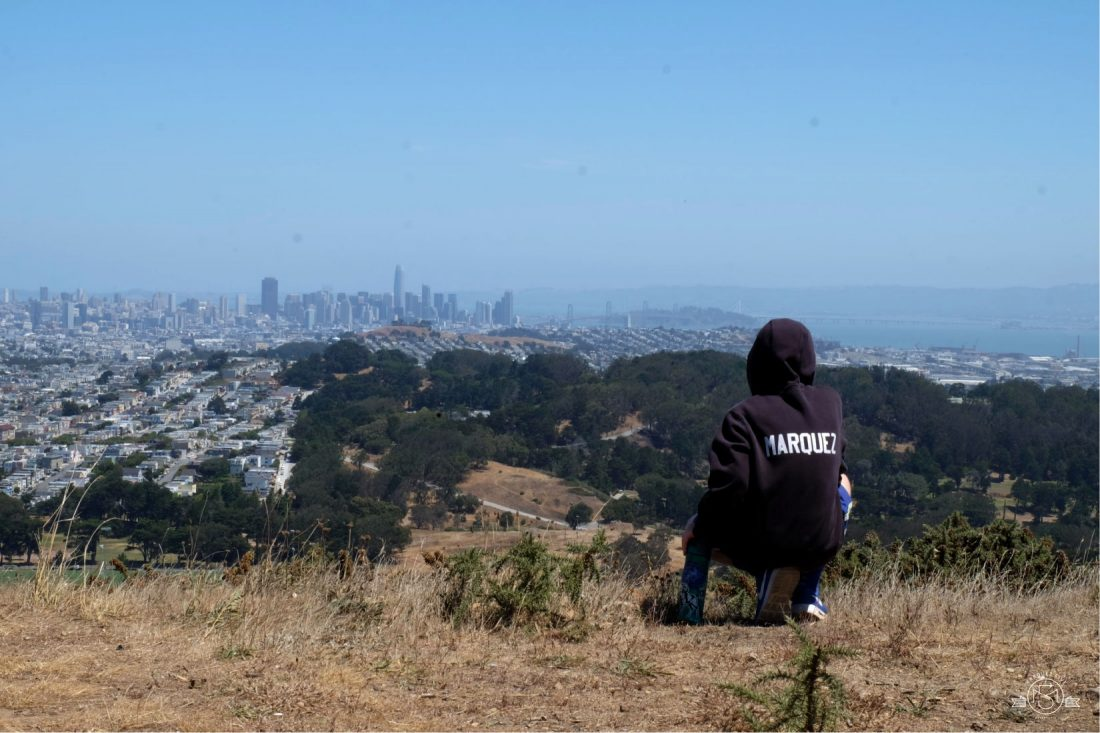 Panoramic views from San Bruno Mountain. California. San Mateo County