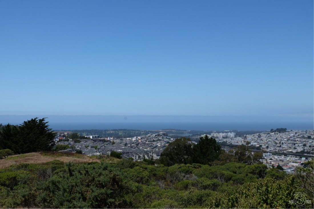 Pacific Ocean, from San Bruno Mountain California