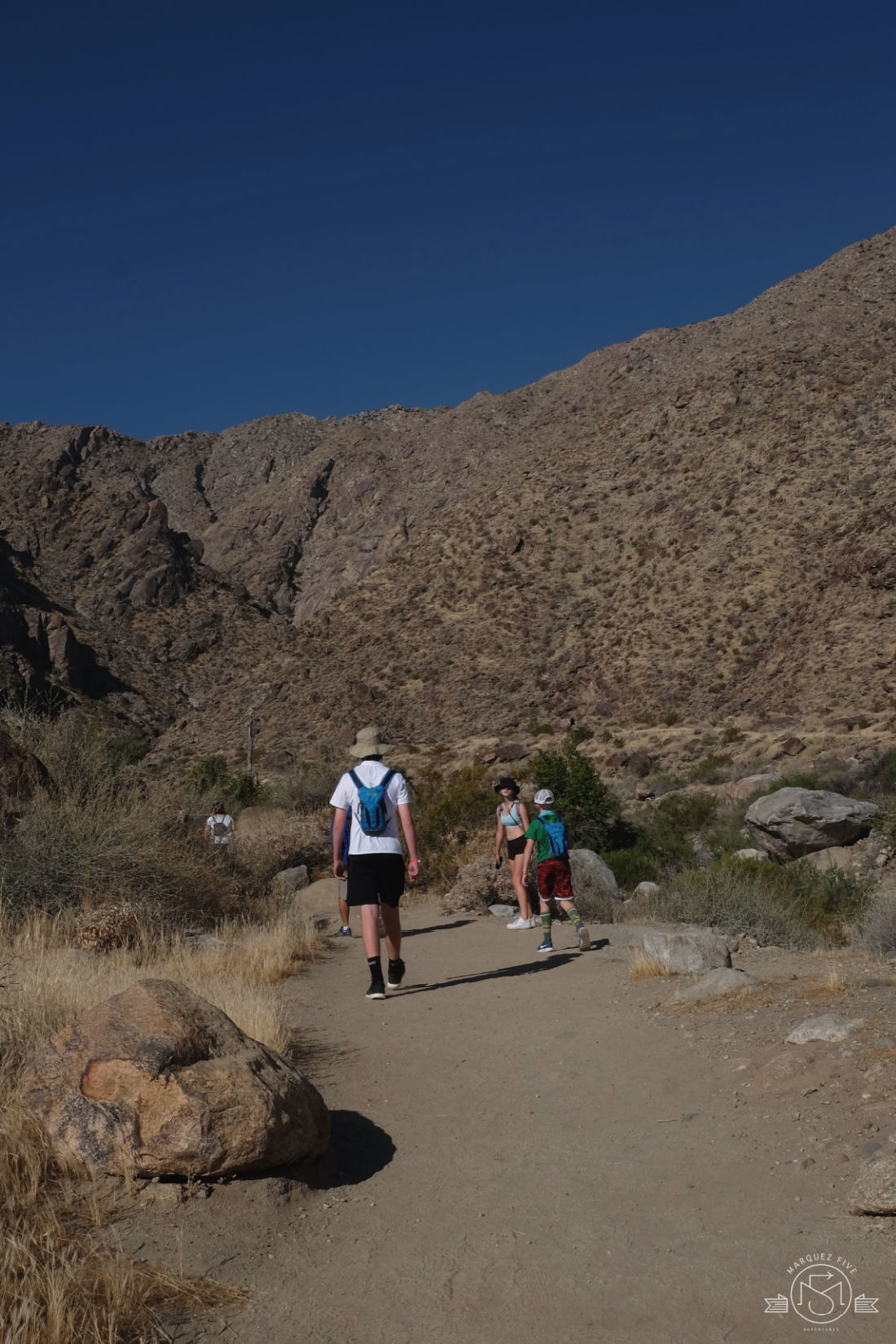 Starting the hike at 8am - already 90 degrees! Tahquitz Falls Palm Springs, California