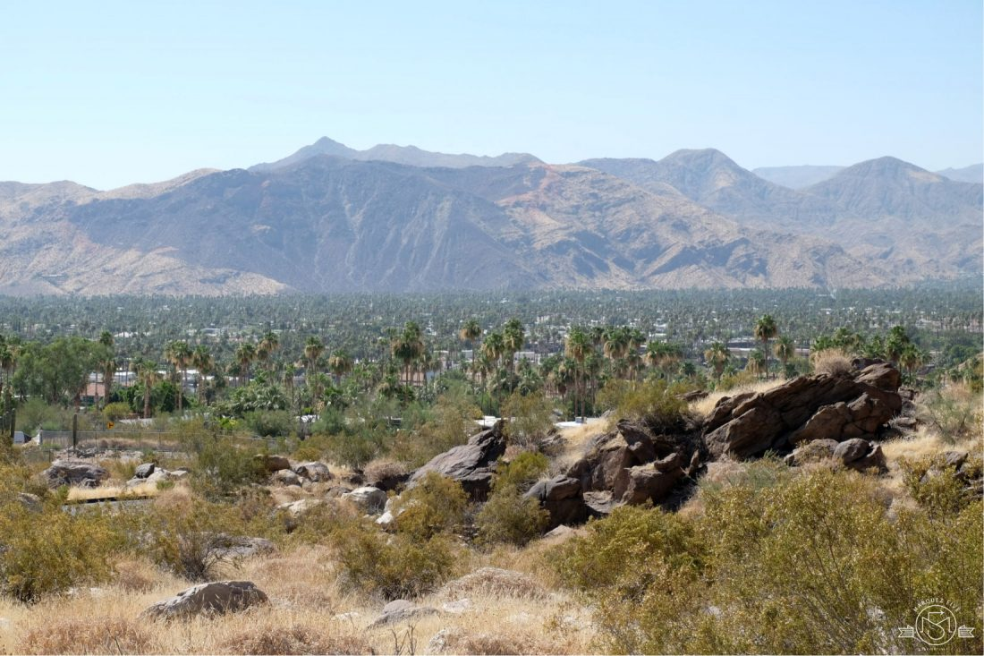 Towards downtown Palm Springs California