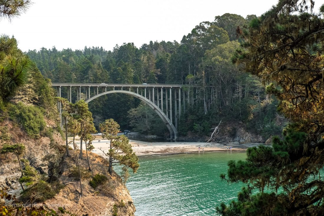 Russian Gulch Bridge. Mendocino California