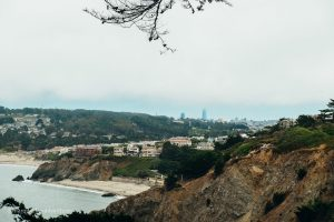The homes in Sea Cliff. Land's End San Francisco, California